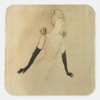 Yvette Guilbert, 1894 Square Sticker