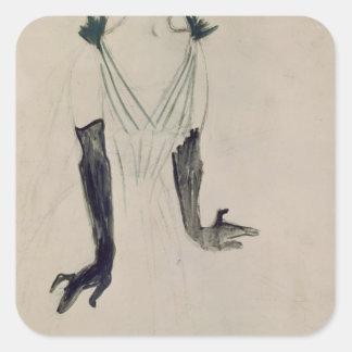 Yvette Guilbert , 1894 Square Sticker