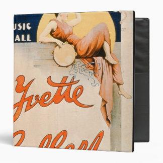 'Yvette Guilbert (c.1869-1944) at Koster and Bial' 3 Ring Binder