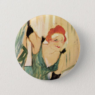 Yvette Guilbert, Henri de Toulouse-Lautrec Pinback Button