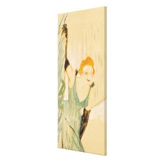 Yvette Guilbert que toma una salida a escena, 1894 Impresión En Lienzo Estirada