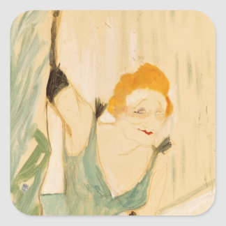 Yvette Guilbert  taking a Curtain Call, 1894 Square Sticker