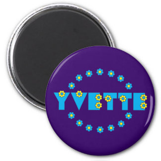 Yvette in Flores Blue Magnets
