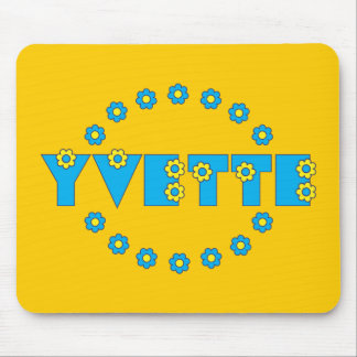 Yvette in Flores Blue Mouse Pad