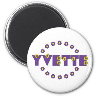 Yvette in Flores Purple Refrigerator Magnet