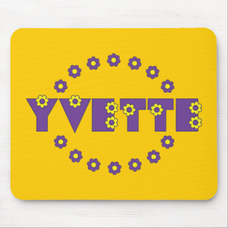 Yvette in Flores Purple Mouse Pad