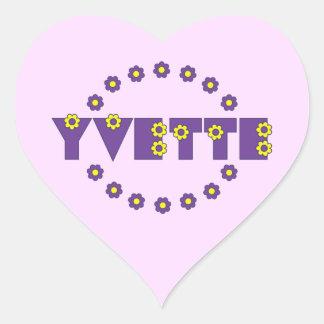 Yvette in Flores Purple Heart Sticker