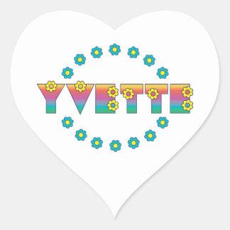 Yvette in Flores Rainbow Heart Sticker