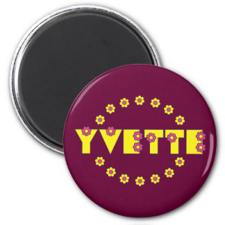Yvette in Flores Yellow Magnet