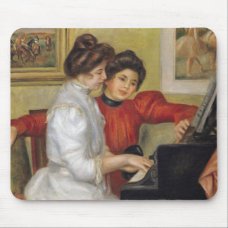 Yvonne and Christine Lerolle at the piano, 1897 Mouse Pad