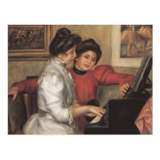 Yvonne and Christine Lerolle at the piano - Renoir Postcard