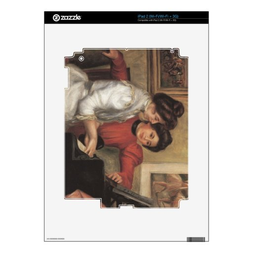 Yvonne and Christine Lerolle at the piano - Renoir iPad 2 Skin