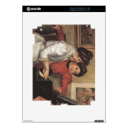 Yvonne and Christine Lerolle at the piano - Renoir Skins For The iPad 2