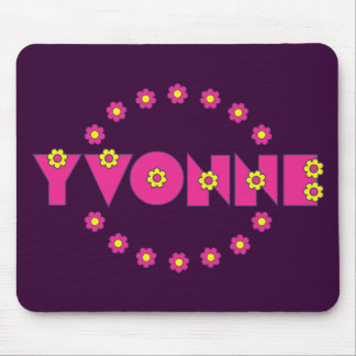 Yvonne Flores Pink Mouse Pad