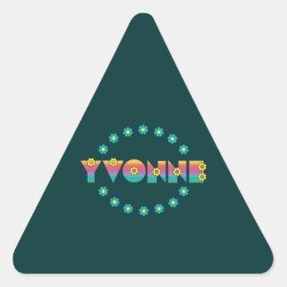 Yvonne in Flores Rainbow Triangle Sticker