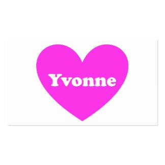 Yvonne Plantilla De Tarjeta De Negocio