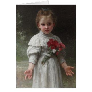 Yvonne - William-Adolphe Bouguereau Tarjeta De Felicitación