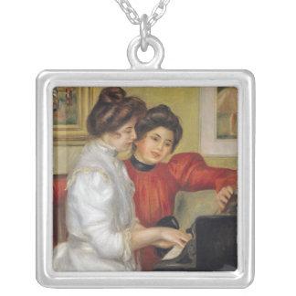 Yvonne y Christine Lerolle en el piano, 1897 Colgante Cuadrado