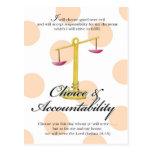 YW Value Card -Choice and Accountability Post Card