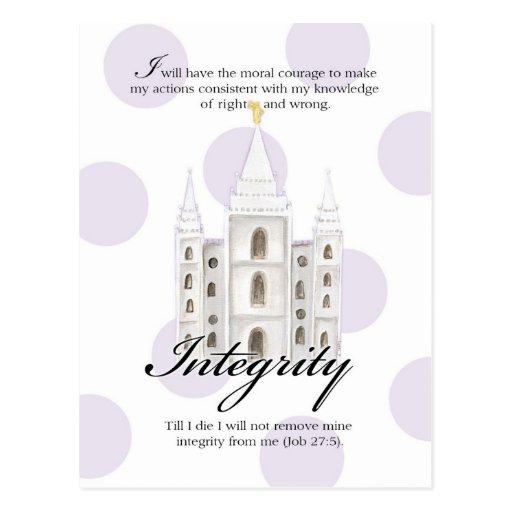 YW Value Card- Integrity Postcard