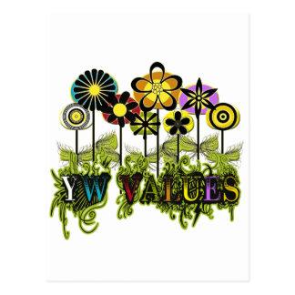 YW Value Flowers Postcard