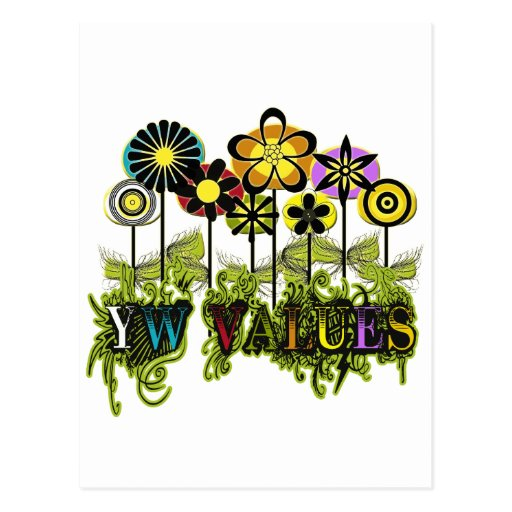YW Value Flowers Post Card