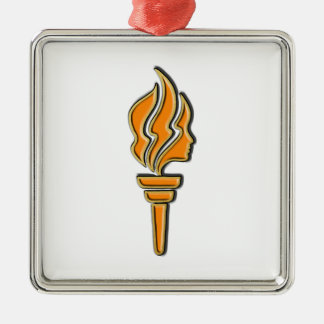 YWL 05 - Clear Back Metal Ornament