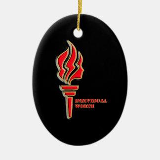 YWV - 03 - Black Back Ceramic Ornament