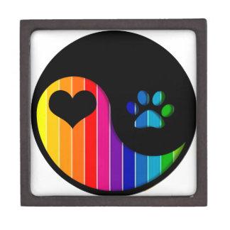 YYP_Dog_RainbowThickStripe Keepsake Box