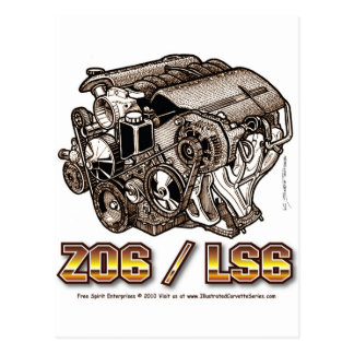 Z06-LS6 POSTCARD