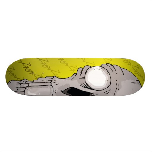 Z10 Skull Board Yellow Skate Board