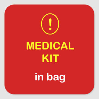 z1 - Medical Kit In Bag. Square Sticker