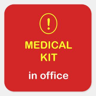z2 - Medical Kit In Office. Square Sticker
