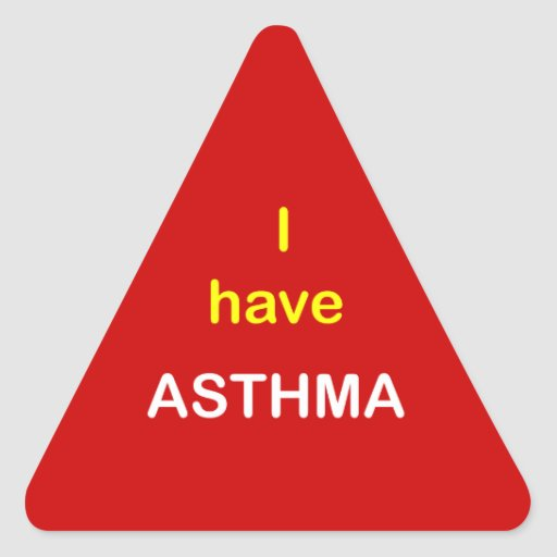 z3 - I have ASTHMA. Triangle Sticker