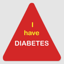 z6 - I have DIABETES. Triangle Sticker