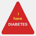 z6 - I have DIABETES. Triangle Stickers