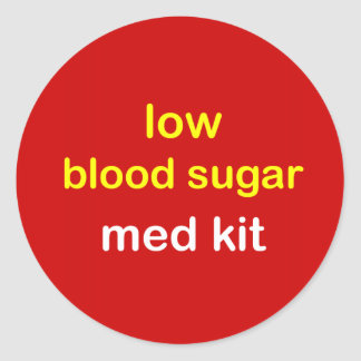 z7 - EQUIPO bajo del azúcar de sangre Pegatina Redonda
