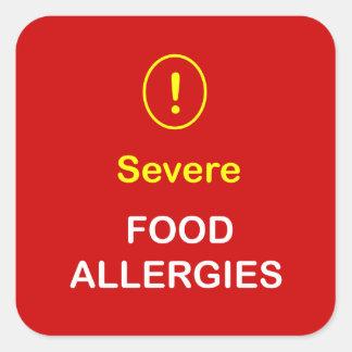 z8 - Severe Food Allergies. Square Sticker