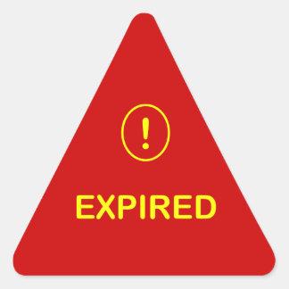 z9 - El ~ alerta de la comida EXPIRÓ Pegatina Triangular