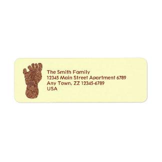 Z Bigfoot Sasquatch Track Geeky Mailing Supplies Label