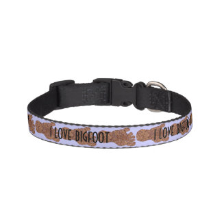 Z Bigfoot Sasquatch Track I Love Bigfoot For Pets Pet Collar