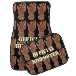 Z Bigfoot Sasquatch Track Pattern On Black Cool Car Mat