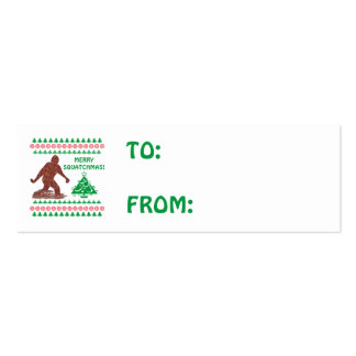 Z Bigfoot Sasquatch Yeti Cryptid Funny Christmas Double-Sided Mini Business Cards (Pack Of 20)