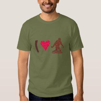 Z Bigfoot Sasquatch Yeti Cryptid I Heart Bigfoot T Shirt