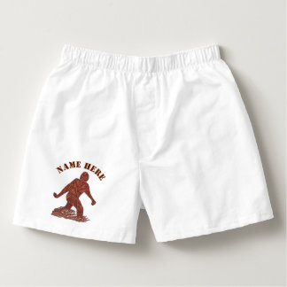 Z Bigfoot Walking Sasquatch Fashion Gift For Him Boxers