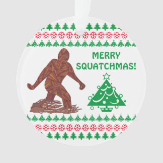 Z Bigfoot Walking Sasquatch Funny Christmas Cute Ornament
