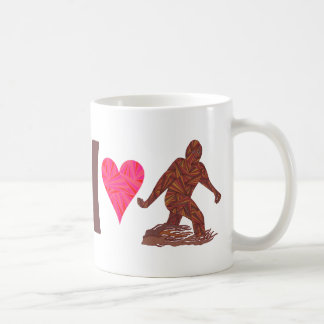 Z Bigfoot Walking Sasquatch I Heart Bigfoot Humor Coffee Mug
