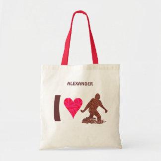 Z Bigfoot Walking Sasquatch I Heart Bigfoot Tote Bag