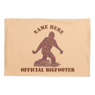 Z Bigfoot Walking Sasquatch Official Bigfooter Pillowcase