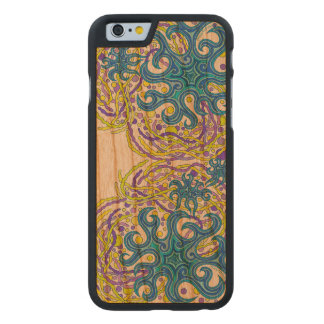 Z Blue And Yellow Astrum Vita Abstract Art Carved Cherry iPhone 6 Slim Case